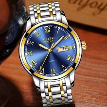 цена 2018 LIGE Mens Watches Men's Military Sports Watch Men Stainless Steel Waterproof Watch Multi-function Timekeeping Quartz Clock онлайн в 2017 году