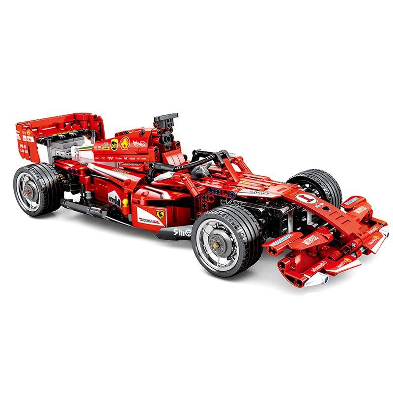 RC F1 voiture de course Compatible Legoing Technic ville modèle blocs de construction garçons cadeaux d'anniversaire télécommande voiture jouets pour enfants-in Blocs from Jeux et loisirs    3