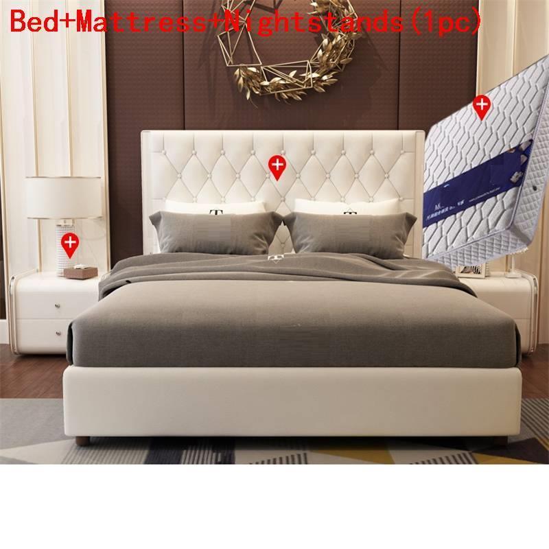 Lit Enfant Matrimonio Recamaras Quarto Set Frame Mobilya Kids Leather Mueble De Dormitorio Cama Moderna bedroom Furniture Bed