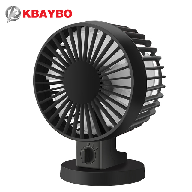 Ultra Quiet Mini Usb Desk Fan Office Silent Desktop With Double Side