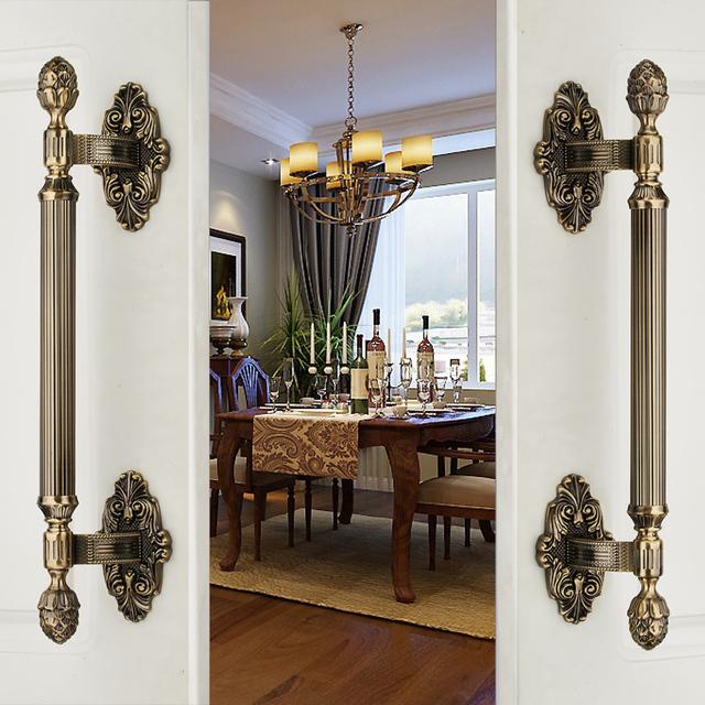Retro chinês de madeira sólida completo armário porta de correr porta do armário maçaneta da porta gaveta Handle ( cc : 285 mm, L : 420 mm )