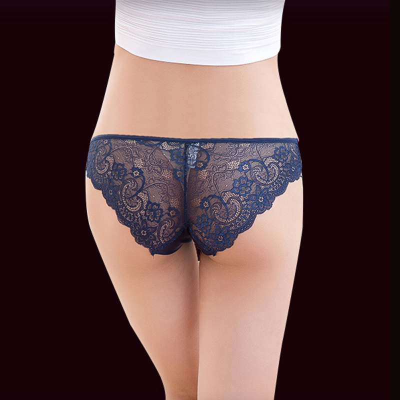c23b3e772dd QUCO Brand 10pcs sexy panties women underwear ladies cotton lingerie pink  embroidery lace transparent underwear W1 PT