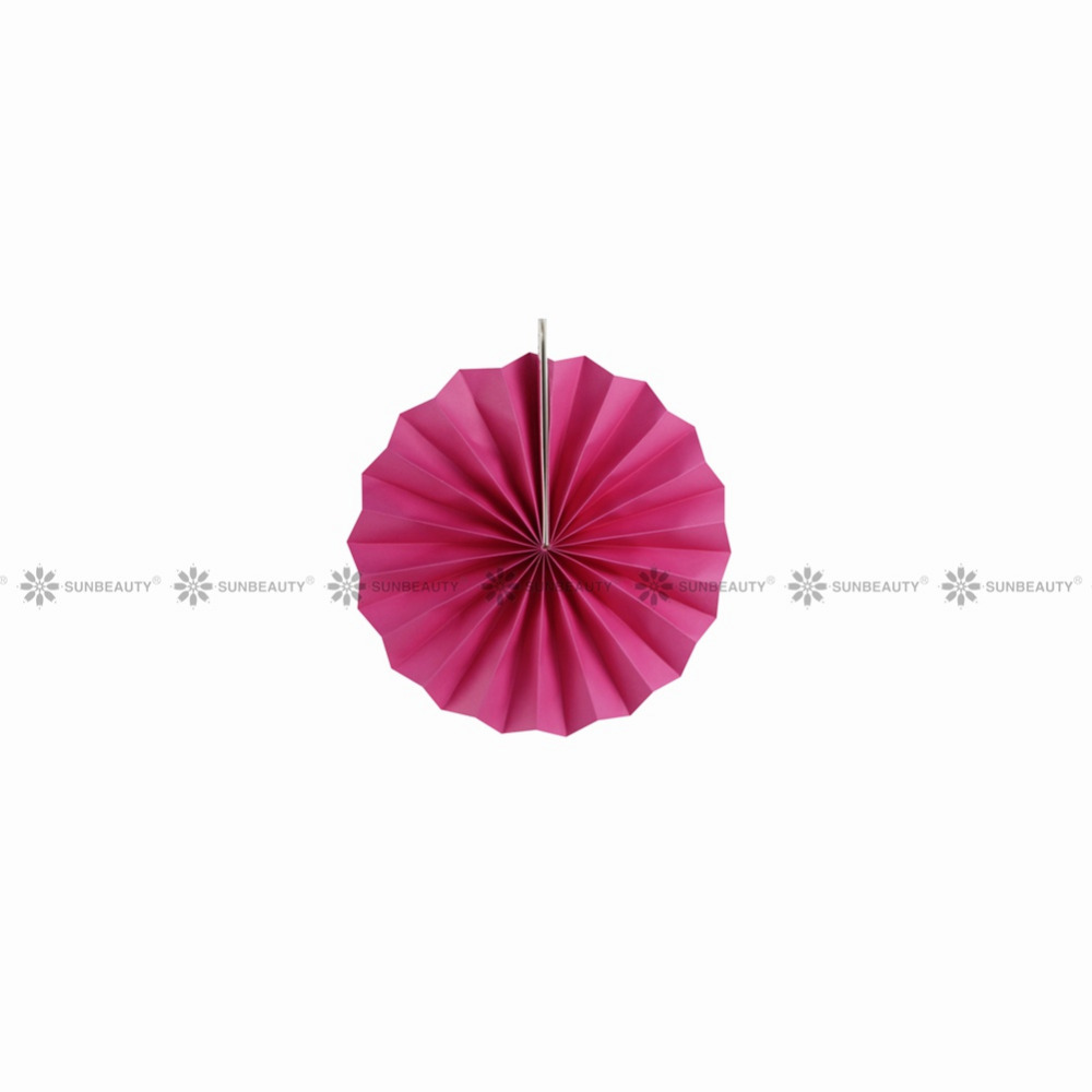 6pcs set Rainbow Paper Fans Rosettes Backdrop Paper Pinwheel Garland Party Fans for Wedding Birthday Shower Room Decor in Party DIY Decorations from Home Garden