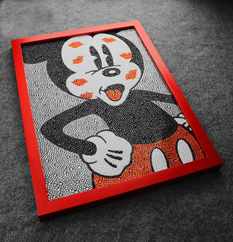 Lovely 30 * 40cm Diamond Painting Mickey Mouse Diy 5D Diamond Painting Mickey Mouse Disny Full Broderi Round Diamond Rhinestone