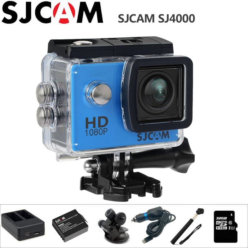 цена на SJCAM SJ4000 Action Camera 1080P Full HD Outdoor Sport Activities mini Camcorder 2.0 inch Diving Waterproof Original SJ 4000 Cam
