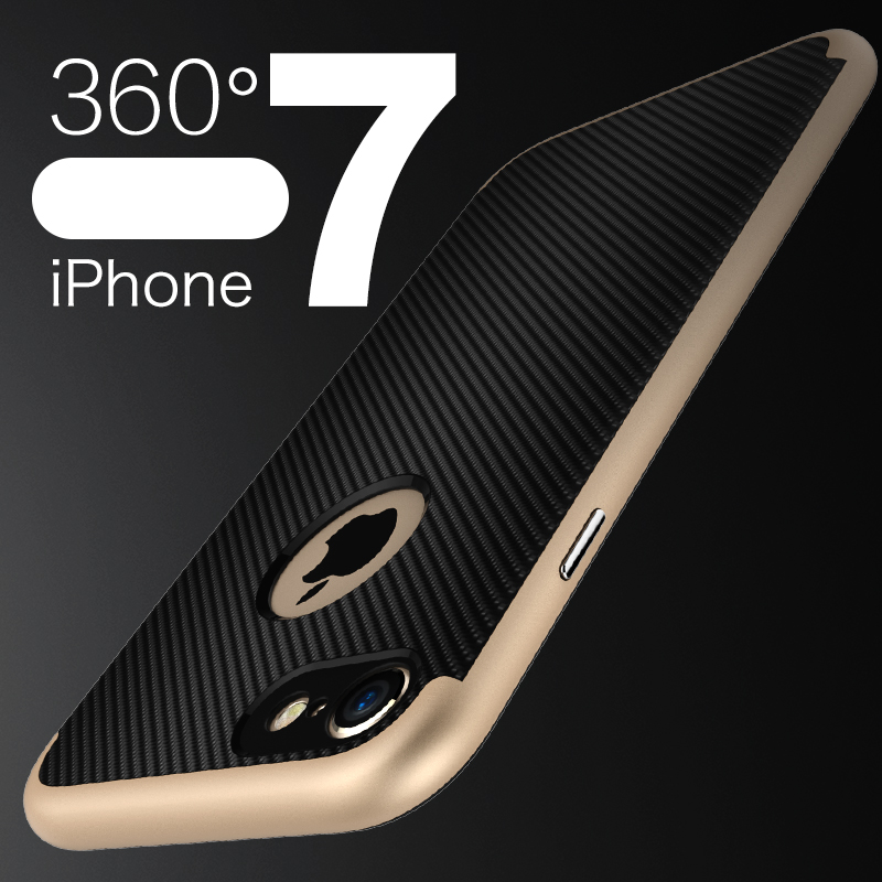 For iPhone7 hybird phone case on iPhone7 and iPhone7 plus cover troplating PC+heatsink soft TPU scratch proof Koolife Armor