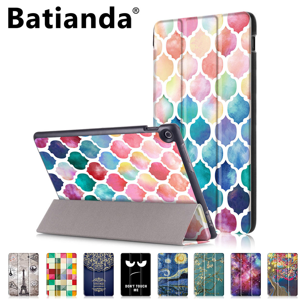 Batianda Ultra Slim Tablet Leather Case for Asus zenpad 10 Z301MFL 10.1 Magnetic Folding Stand/Auto Sleep/Wake Function Cover free shipping new 10 1 original stand magnetic leather case cover for lenovo ibm thinkpad 10 tablet pc with sleep function
