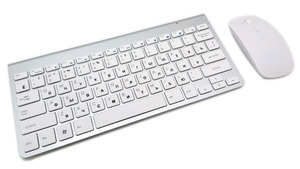 Image 3 - لوحة مفاتيح روسية رقيقة جدا لاسلكية لوحة مفاتيح وماوس 2.4G ماوس لاسلكي لابل لوحة المفاتيح نمط ماك وين XP/7/8/10 Tv Box