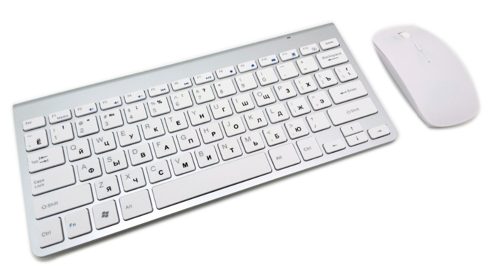 Image 3 - Russian Keyboard Ultra Thin Wireless Keyboard Mouse Combo 2.4G Wireless Mouse for Apple Keyboard Style Mac Win XP/7/8/10 Tv Box-in Computer Cleaners from Computer & Office
