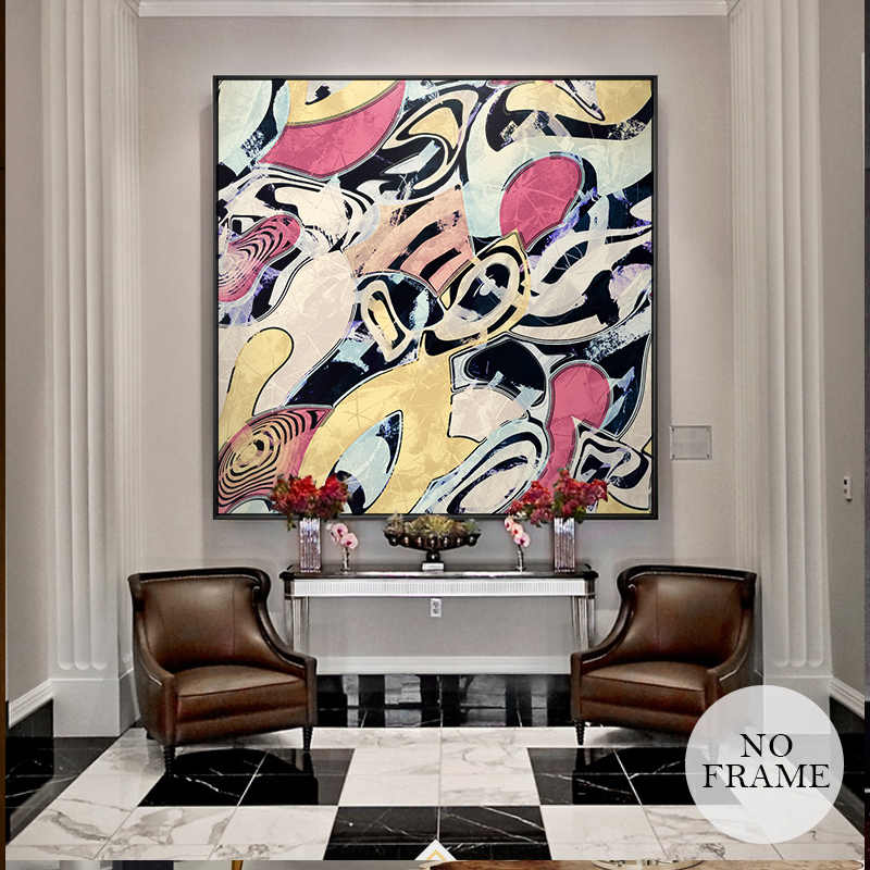 Abstract Canvas Painting Picasso Famous Colorful Posters And Prints Modern Home Decor Special Wall Art Pictures For Living Room