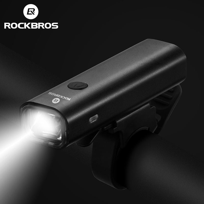 ROCKBROS USB Charge MTB Bicycle Front Lamp Bike Headlight Rainproof Cycling Ultralight Flashlight Outdoor Night-riding