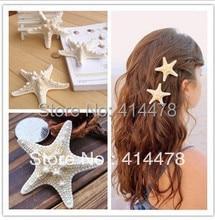 Free Shipping 2014 New Starfish Bride Barrettes Beach Wedding Surfer Hair Clip Fashion Hairclips Hair Accessories For Women