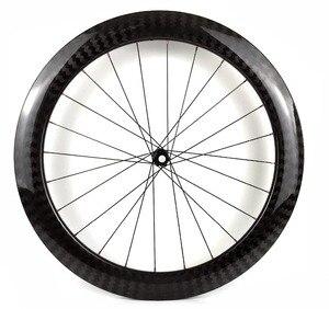 Image 4 - Profundidade de 60mm 25mm, largura, pneus de carbono, clincher/tubular, bicicleta, rodas de carbono, com 411/412cl hubs 12k sarja