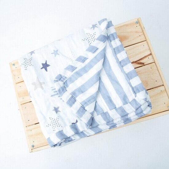 Épais 6 couches 120cm120cm bébé serviette de bain mousseline bambou Fiber infantile Swaddle couverture bébé literie MT23