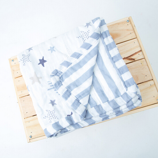 Thick 6 Layers 120cm120cm Baby Bath Towel Muslin Bamboo Fiber Infant Swaddle Blanket Baby Bedding MT23