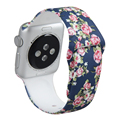 V-MORO New Rubber Silicon Printed Pattern Watchband for Apple Watch Bands 42mm Wrist Band Replacement Band