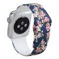 V-moro nuevo patrón impreso correa de goma de silicona para apple watch bandas 42mm wrist band band reemplazo