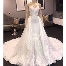 H&S BRIDAL Wedding dress with detachable train Floor length