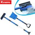 Tiptop 2016 Newest Home Car Snow Ice Scraper SnoBroom Stretching Snowbrush Shovel Removal Brush Set NOV25