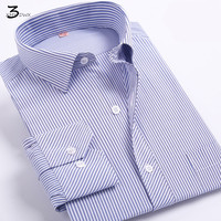 Men S Professional Stripe Long Sleeve Shirt 2017 Men Dress Shirt Brand Business Casual Thin Body