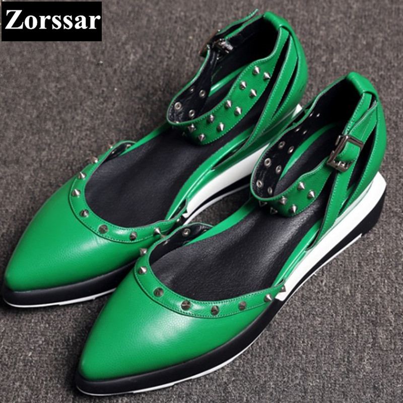Summer Womens shoes Pointed Toe high heels sandals Women Mary Jane shoes green 2017 NEW Fashion rivet low heel woman heels plus size 2017 new summer suede women shoes pointed toe high heels sandals woman work shoes fashion flowers womens heels pumps