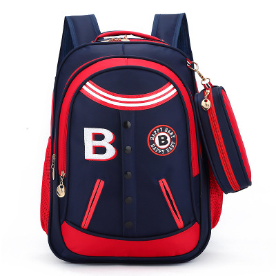 2017 viento británico niños y niñas bolsas de escuela 1-3-4-6 grado reducción cresta mochila moda niños bolsas
