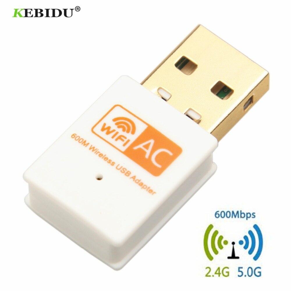 Kebidu 600 Mbps Usb Wifi Adapter 2,4 Ghz 5 Ghz Wifi Antenne Dual Band 802.11b/n/g/ Ac Mini Drahtlose Computer Netzwerk Karte Empfänger AusgewäHltes Material Computer & Büro