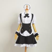 Anime Magical Girl Lyrical Nanoha Dress Women Copslay Maid Costume Halloween