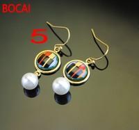 Cloisonne hand painted enamel European style earrings 5