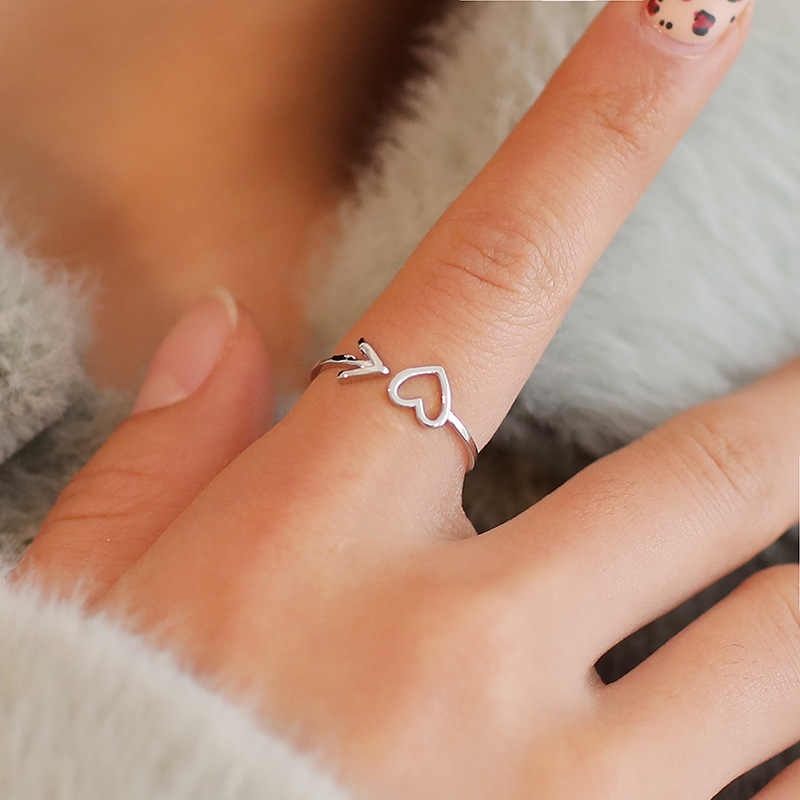 New Style Women Ring Hollow Heart Rings For Couple Wedding Best Jewelry