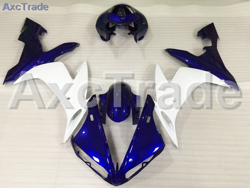 Motorcycle Fairings Kits For Yamaha YZF600 YZF 600 R6 YZF-R6 2006 2007 06 07 ABS Injection Fairing Bodywork Kit Blue White A823 motorcycle fairing kit for kawasaki ninja zx10r 2006 2007 zx10r 06 07 zx 10r 06 07 west white black fairings set 7 gifts kd01