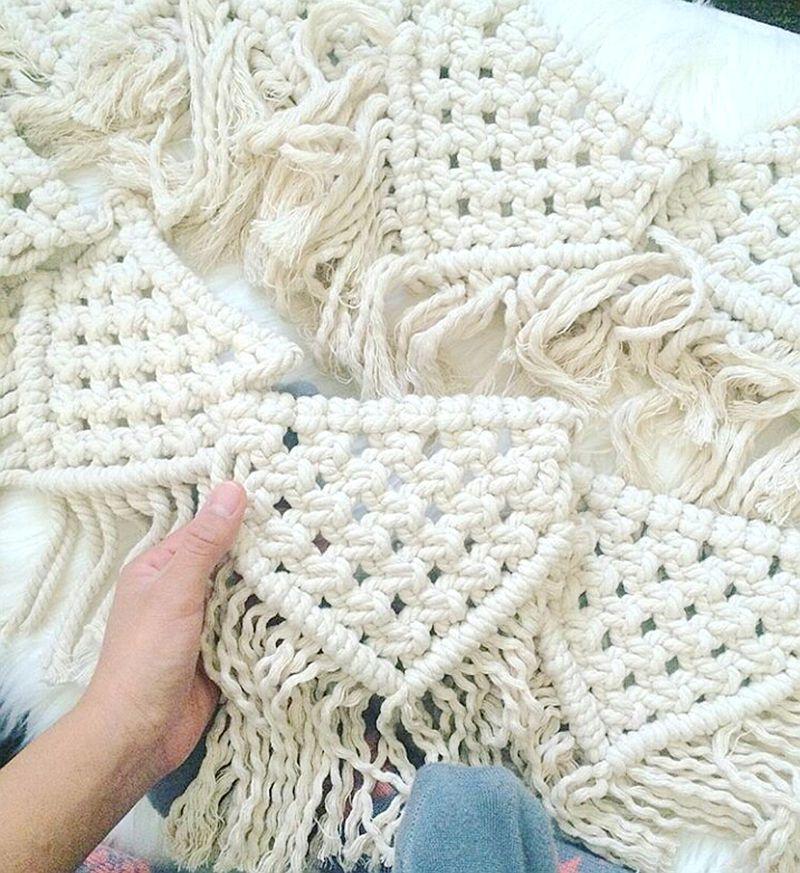 Decoración colgante de macramé hecha a mano/tapiz de borla de ...