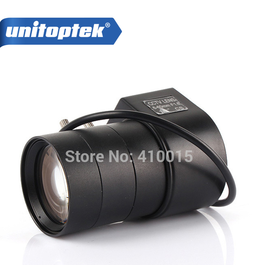 1/3 6mm~60mm Varifocal Auto Iris Zoom CCTV Security Camera CS mount Lens View Angle 5~50 удлинитель zoom ecm 3