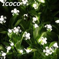 ICOCO 30 LED Solarbetriebene Lichterketten Blume Form Weihnachtsfest Partei Dekoration Wasserdicht Für Outdoor Garten Rasen