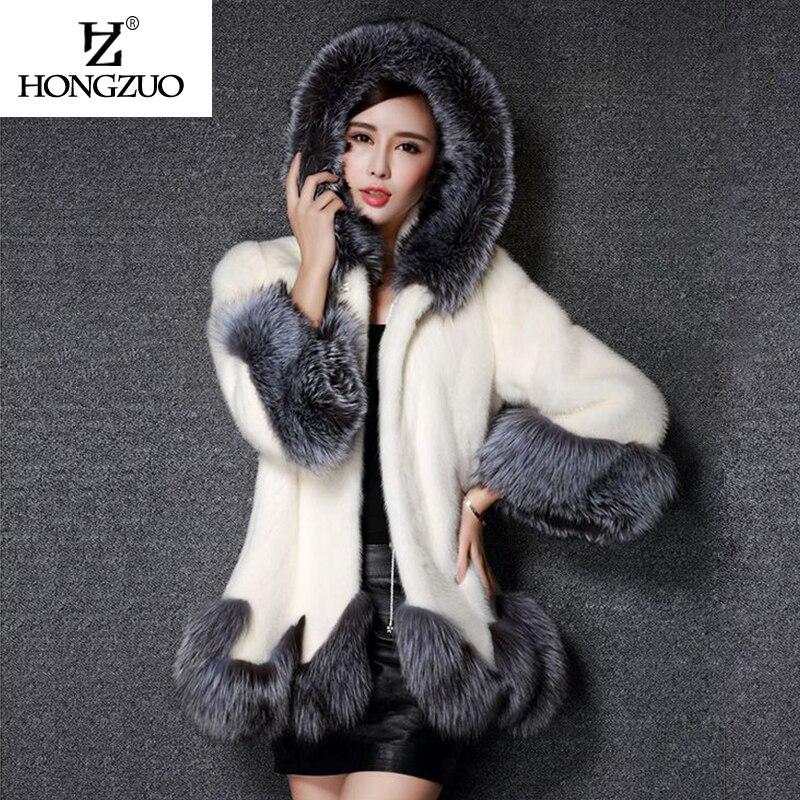 Krzneni kaput od visokog imitacije, srebrni krzneni ovratnik, - Ženska odjeća - Foto 3