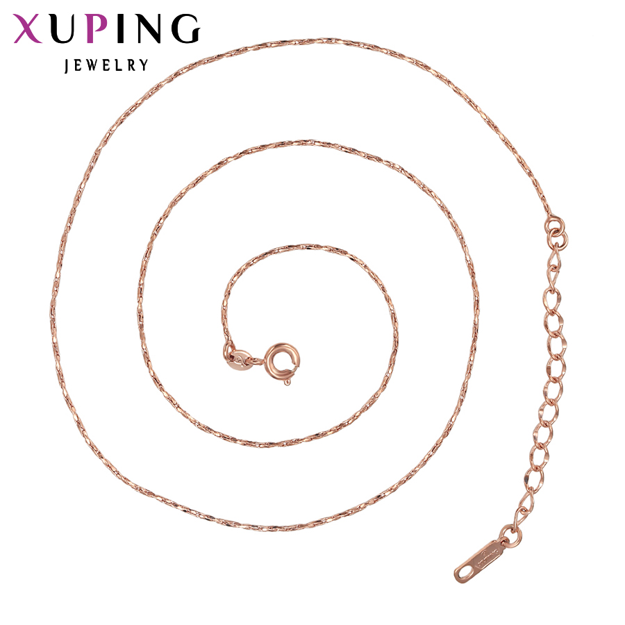 11.11 Xuping Fashion Special Twisted Singapore Long Necklace Jewelry for Women Gold Color High Quality Top Sale Gift S53,1-42971