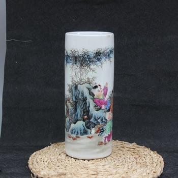 Jingdezhen ceramic brush pot hat porcelain handicraft