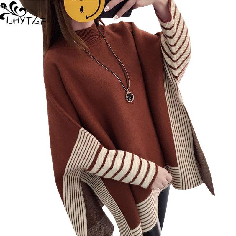 Realistisch Uhytgfwinter Gestrickte Pullover Frauen 2018 Plus Größe Koreanische Schichten Und Ponchos Damen Pullover Herbst Pullover Mode Frau Mantel 312 Funktionale Taschen