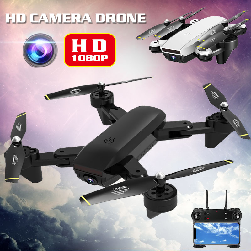 Foldable RC Drone Wifi FPV 1080P HD Camera Wide-angle Optical Flow Dual Follow Me Altitude Hold Quadcopter Gift 100% original new runcam 2 fpv hd camera av out fpv camera runcam2 1080p 120 angle wifi for walkera qav250 rc racing drone
