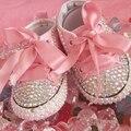 Бесплатная доставка горный хрусталь Кристалл Девочка Ребенок обувь соску ручной Bling Bling алмазов Первые Ходоки из бисера мягкая Спортивная обувь