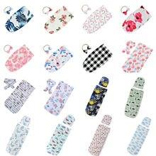 Симпатичный комплект для новорожденной девочки, детские пеленки с цветами спальный мешок Обёрточная бумага повязка на голову