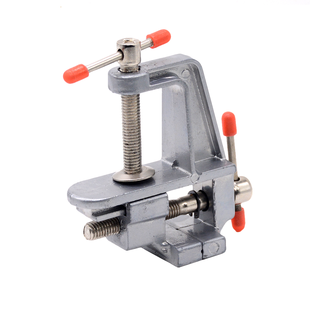 1pcs 5881 30mm Mini Aluminum Miniature Small Jewelers Hobby Clamp On Table Bench Vise Tool Vice image