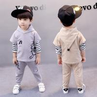Spring Autumn Baby Clothing Set 1 2 3 4 Year Baby Boys Girls Clothes Hooded Shirts