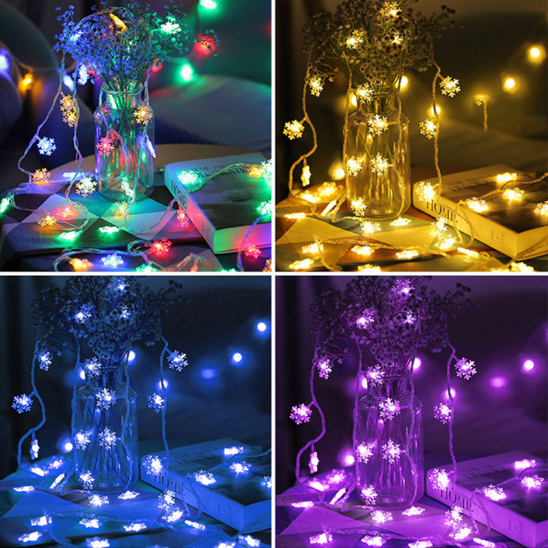 Christmas 5m 28 Ledbedroom Light String Small Snowflake Strip Light Tree Pendant Lights String Light Holiday Decoration For Home