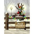 Free Shipping 90cm*150cm Merry Christmas Theme Photography Background High Quantity Vinyl Meterial Christmas Wapiti