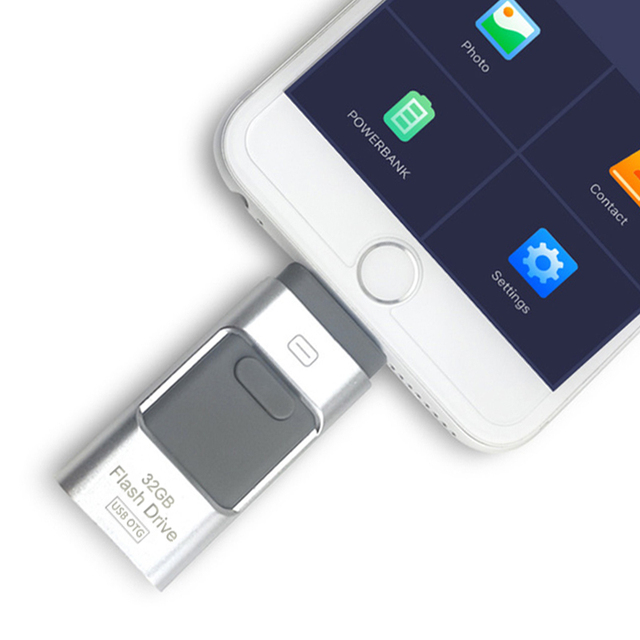 US $16 88 40% OFF|i Flash Driver USB Flash Drive HD Pendrive Lightning Data  For iPhone iPad iPod iOS Android USB Pen Drive For PC/MAC 16G/32G/64GB-in