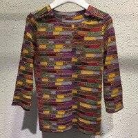 Для женщин свитера и пуловеры осенью 2018 три четверти рукав модный свитер шерстяной свитер