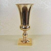 Gold Metal Wedding Flower Vase Table Centerpiece For Mariage Metal Vase Flowers Vases Pots For Wedding