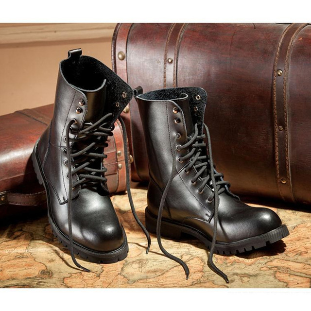 genuine leather martin boots men women 2016 male female dr martin boots  lace-up black punk rock casual shoes aa7c6def8c