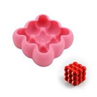 3d球状幾何シリコンモールドベーキングツール用ケーキムースデザートパ